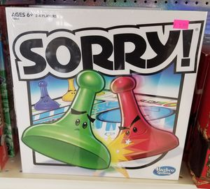 NEW Hasbro Sorry! Classic Board Game for Sale in Burlington, NJ