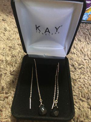 Kay Jewelers Black Diamond Earrings for Sale in Turlock, CA
