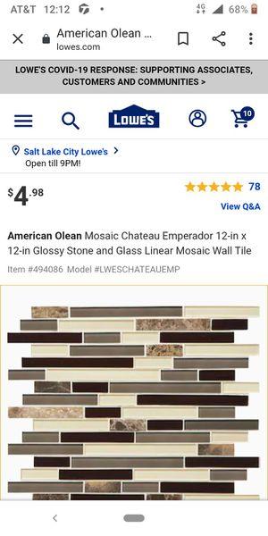 Stick tile, piece tile , square exhaust vent , metal bracket covers for Sale in Salt Lake City, UT