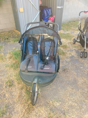 Blue double twin stroller for Sale in Los Angeles, CA