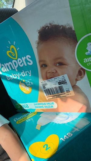 Pampers brand new size 2 and 3 (two of each) for Sale in Chicopee, MA
