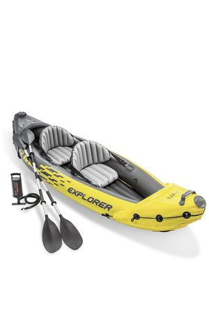 Inter Explorer K2 Kayak, 2- Person Inflatable Kayak Set And High Output Air Pump for Sale in Brooklyn, NY
