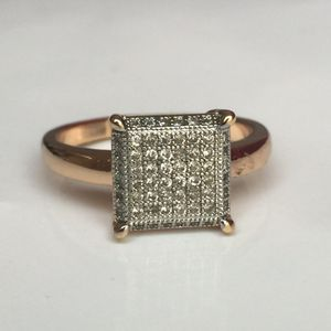 18k gold filled paved artificial diamond ring for Sale in Silver Spring, MD