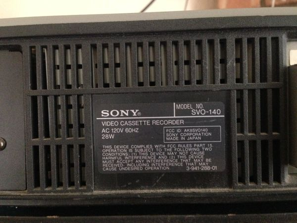 Sony Commercial VCR