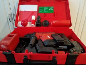 Hilti TE5A cordless hammer drill comes with three batteries 2 BP 40 and one BP 72 SDS Chuck also includes drill chuck ALL NEW NEVER USED for Sale in Ocala, FL