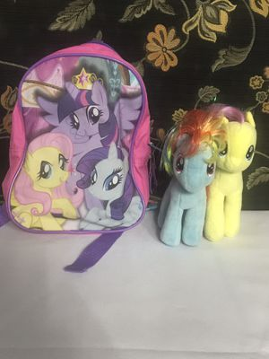 My Little Pony Plush And Backpack Lot for Sale in Phoenix, AZ