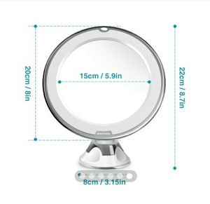 Beautural Magnifying Vanity Mirror offers 10x magnification and a surrounding LED for much clearer vision and makeup application for Sale in Pompano Beach, FL