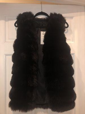 Black Fake Fur Women's Vest for Sale in Los Angeles, CA