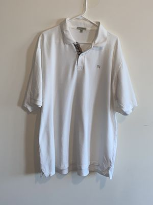 Burberry men's XXL white polo for Sale in The Bronx, NY