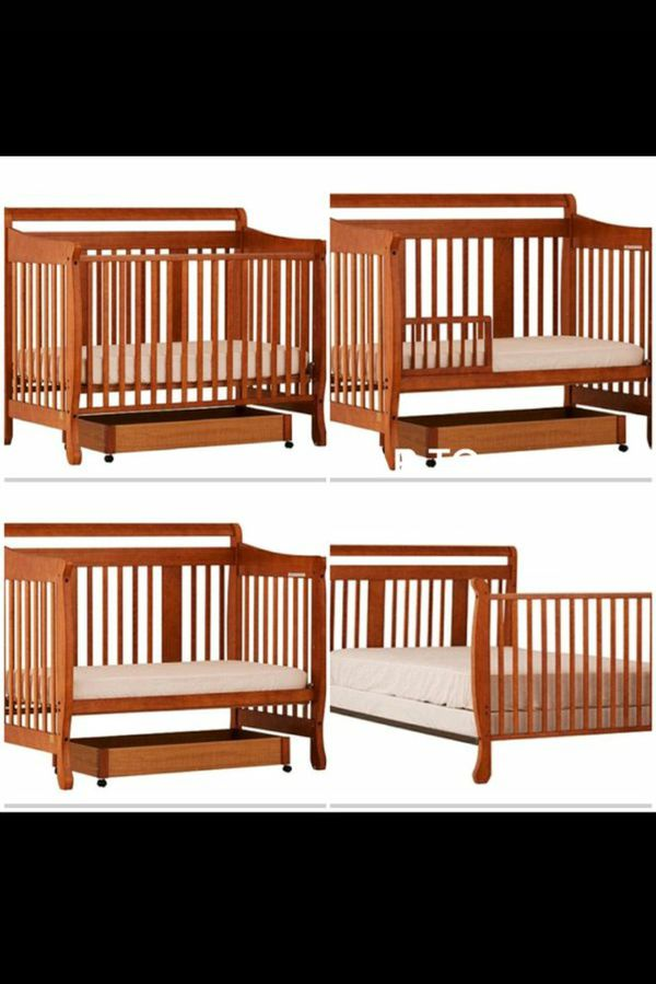 Stork 4 in 1 Crib/Toddler bed with mattress
