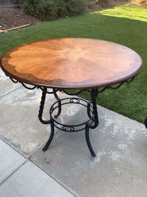 Wooden and iron table for Sale in Brentwood, CA