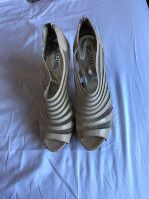 Michael Kors size 9 beige heels for Sale in San Francisco, CA