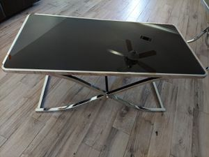 Black Glass Coffee Table and End Table for Sale in Shafter, CA