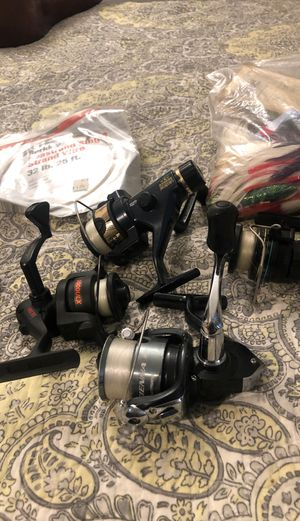 Selling deep sea fishing gear and reels as a package. for Sale in Costa Mesa, CA