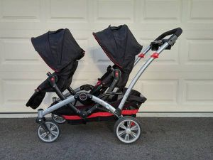 Contours Optima Tandem (Double) Stroller works w/ car seats as well for Sale in Lewis Center, OH