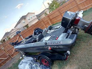 1996 Nitro bass boat with 1978 85 hp Johnson, 2007 trailstar trailer . for Sale in Austin, TX