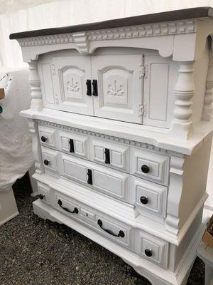 Big farmhouse style cabinet Dresser for Sale in Tacoma, WA