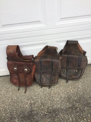 Leather Saddle Bags for Sale in Bonney Lake, WA