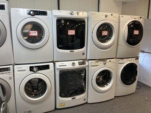 Front loading washers & electric dryer set in excellent working condition with 4 months warranty starting from $599 and up‼️ for Sale in Laurel, MD