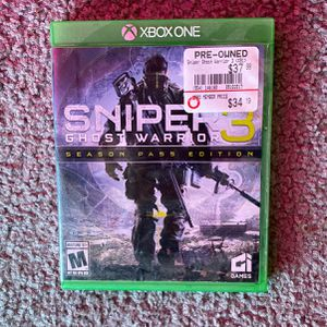 Xbox one sniper ghost warrior 3 for Sale in Marksville, LA