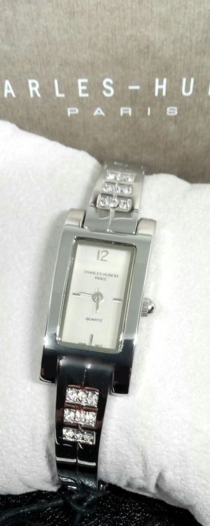 Charles-Hubert Paris Women's Swavorski Crystal Water Resistant Bracelet Watch Brand New with Warranty for Sale in Boca Raton, FL