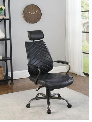 Home Office : Chairs - Antique Black - High Back Upholstered Office Chair Antique Black for Sale in Naples, FL