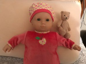Bitty Baby with teddy bear for Sale in Rolling Meadows, IL