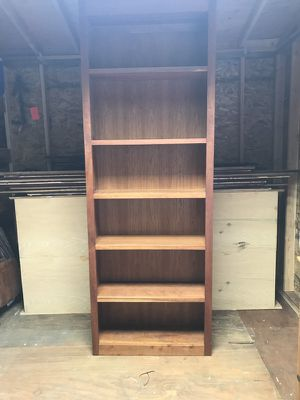 Very nice real wood 8' tall book shelves... for Sale in Portland, OR