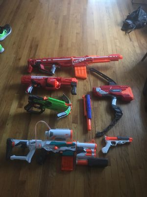 Lot of nerf guns no bullets for Sale in Upland, CA