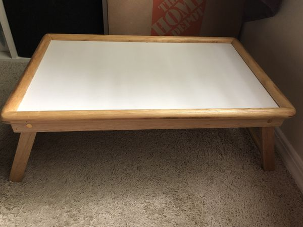 Bamboo Laptop Desk Foldable Breakfast Serving Bed Tray