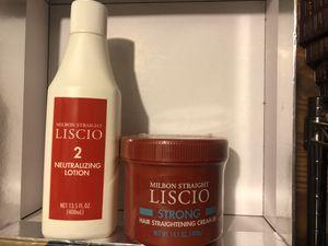 Milbon liscio hair straighteners cream 400g & Neutraizers 400ml for Sale in Brooklyn, NY