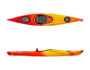 13ft perception sport kayak with 2 swiss multi position cargo carriers for Sale in Bridgeville, PA