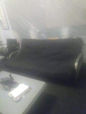 Heavy duty futon and mattress set $175/ stainless steel table set $200 delivery is available for Sale in Detroit, MI