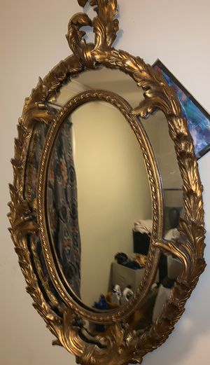 Antique gold leafed decorative mirror for Sale in New Orleans, LA