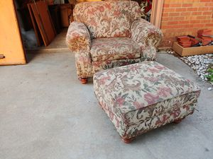 Nice comfortable chair and ottoman for Sale in Wichita, KS