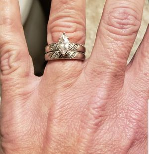 Marquis Sterling silver CZ wedding/engagement rings for Sale in Cropwell, AL