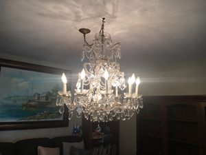 Crystal chandelier-antique for Sale in Manhasset, NY