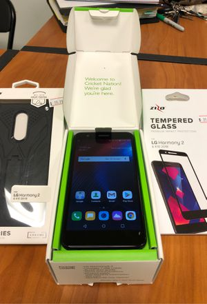 LG Harmony 2 with case & screen protector for Sale in Paragould, AR