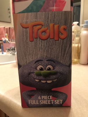 Trolls Full Sheet Set for Sale in Kennesaw, GA