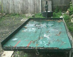 Trailer.... perfect for lawn mowers motorcycles because it tilts custom made for Sale in Bridgeport, CT
