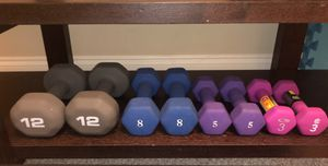 Dumbbell Pairs (12, 8, 5, 3 pounds) $40 for all or See Description for individual Pricing for Sale in Atlanta, GA