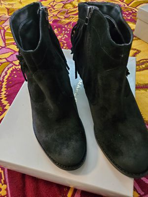 Marc Fisher Black Suede Fringed Bootie for Sale in Buckeye, AZ