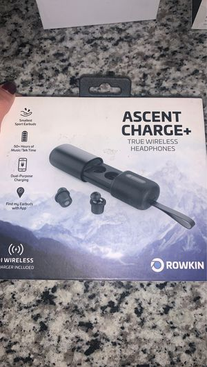 Rowkin Ascent Charge / Charge + True Wireless Earbuds - Over 50 hours Bluetooth 5 smaller earbuds. Deep Bass - Headphones with microphone and noise for Sale in Miramar, FL
