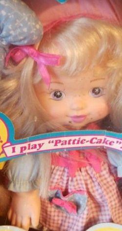 Rosie's Best Friend Pattie Doll - Plays Pattie-Cake Vintage 1996 New in Package for Sale in Maple Valley,  WA