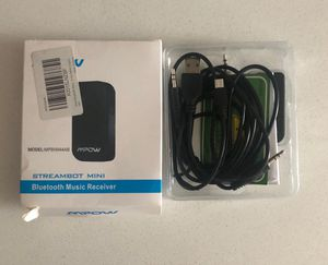 Mpow Bluetooth audio cable and car adapter for music, answering calls for Sale in Chicago, IL