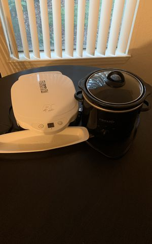 George Forman and 2 Qt Crock Pot for Sale in Orlando, FL