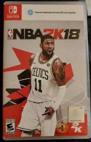 NBA 2K18 Nintendo Switch for Sale in Parlin, NJ