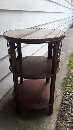Antique Luce Wooden 3 level stand w/glass top for Sale in Pittsburgh, PA