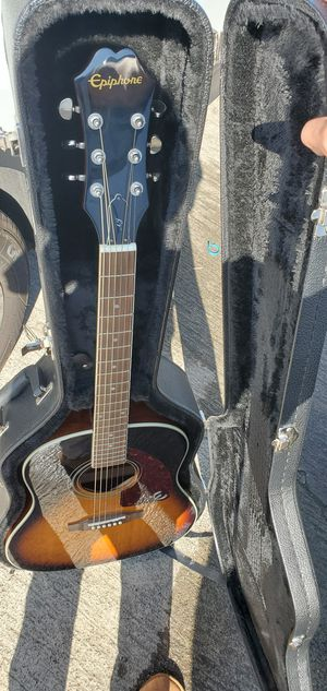 Acoustic Epiphone guitar with hardcase for Sale in San Diego, CA