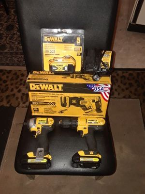 Dewalt drill, impacted, extra battery, bag, a compact reciprocating saw for Sale in Evansville, IN